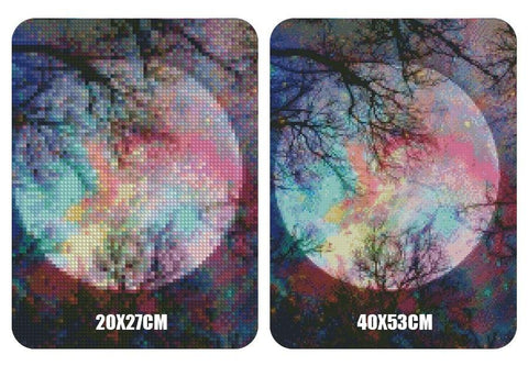 Image of 5D Diamond Painting Forest Moonlight
