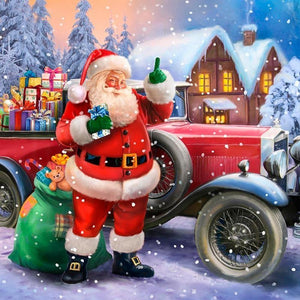 5D Diamond Painting Santa Claus with Gifts