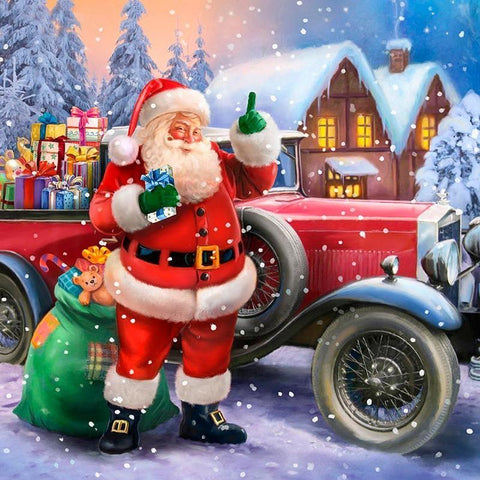 Image of 5D Diamond Painting Santa Claus with Gifts