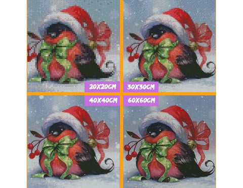 Image of 5D Diamond Painting Christmas Bird