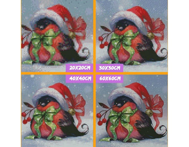 5D Diamond Painting Christmas Bird