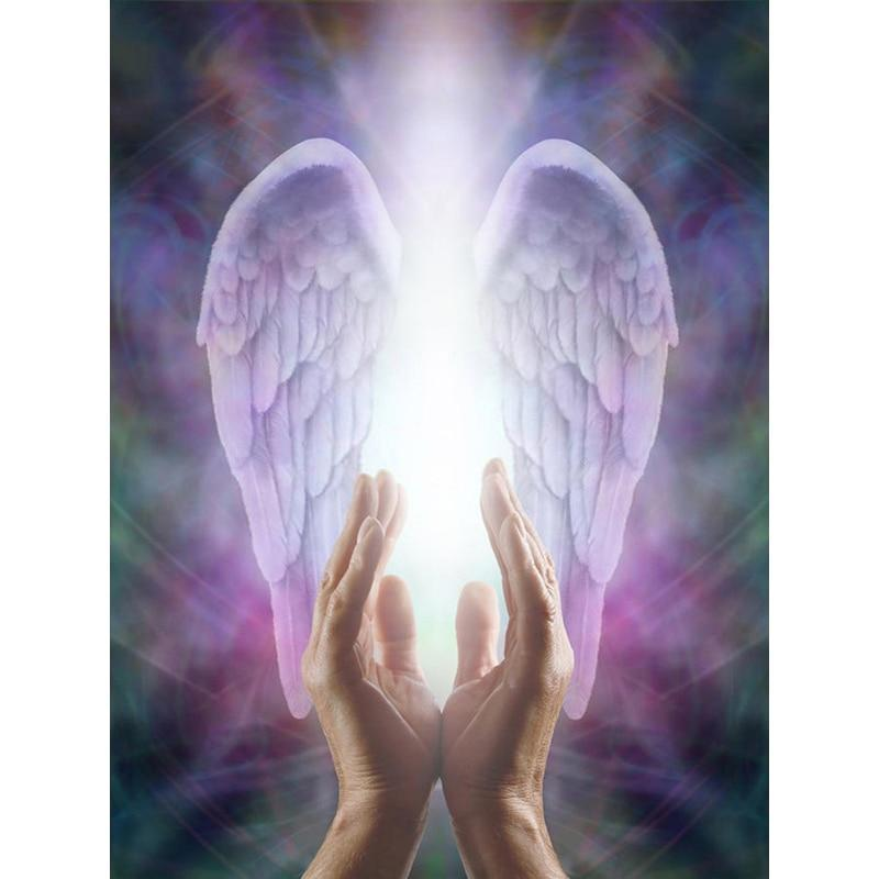 5D Diamond Painting Praying Hands and Angel Wings