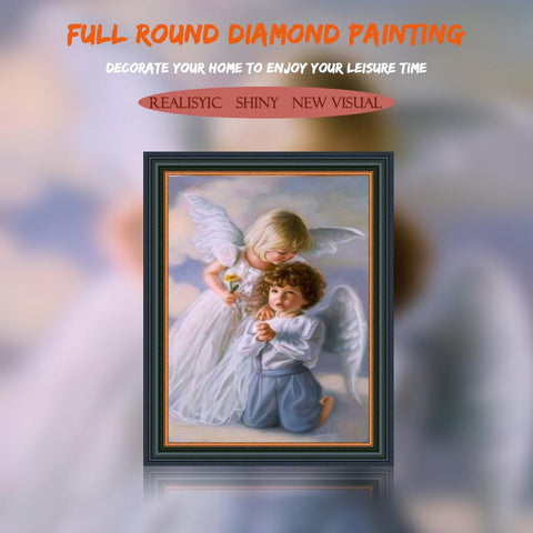 5D Diamond Painting Two Little Angels