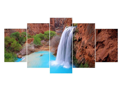 5D Diamond Painting Waterfall Landscape 5Pcs