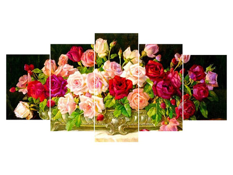 Image of 5D Diamond Painting Roses 5Pcs