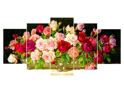 5D Diamond Painting Roses 5Pcs