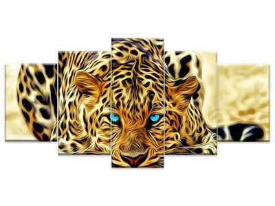 5D Diamond Painting Leopard 5Pcs