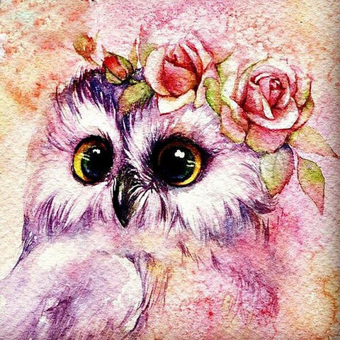 Image of 5D Diamond Painting Beautiful Owl