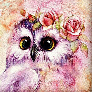 5D Diamond Painting Beautiful Owl