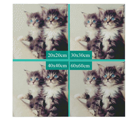 5D Diamond Painting Two Cute Kittens