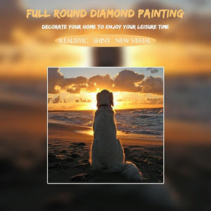 5D Diamond Painting Sunset Dog