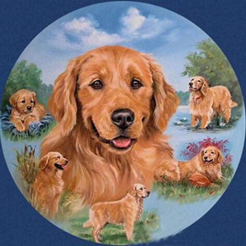 Image of 5D Diamond Painting Resting Dog