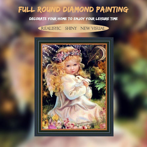 5D Diamond Painting Praying Angel Child