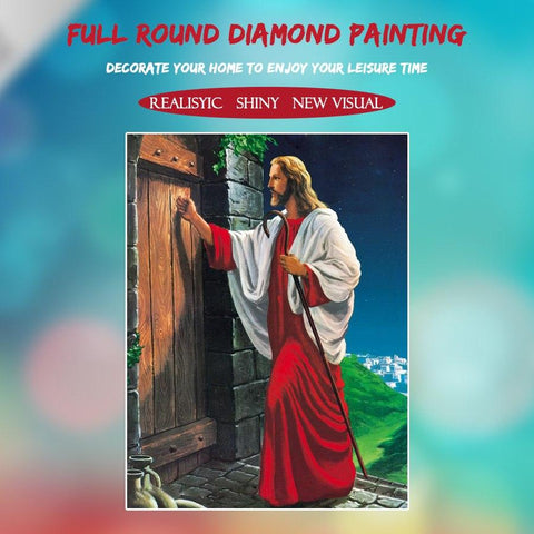 5D Diamond Painting Jesus Came Knocking