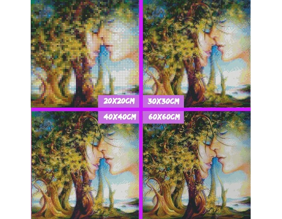 5D Diamond Painting Tree and Couple