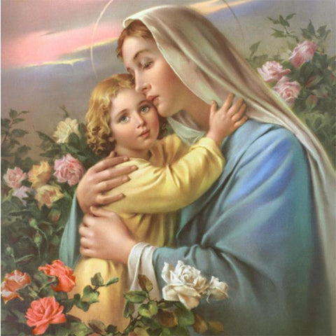 Image of 5D Diamond Painting Virgin and Child