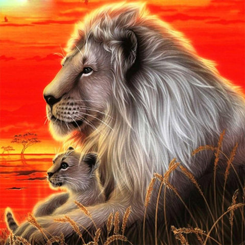 Image of 5D Diamond Painting The Lion King and the Prince