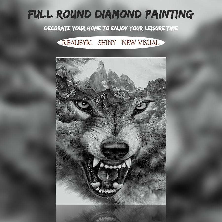 5D Diamond Painting Wild Wolf