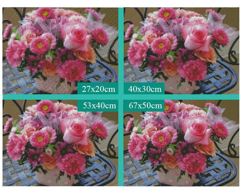 Image of 5D Diamond Painting Peony and Rose and Chrysanthenum