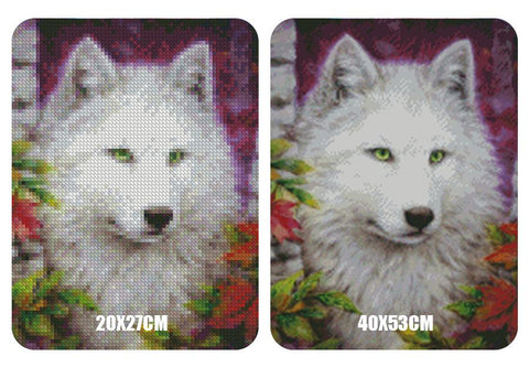 Image of 5D Diamond Painting White Wolf