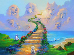 5D Diamond Painting Dogs in Heaven