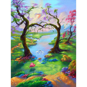 5D Diamond Painting Love in the Forest