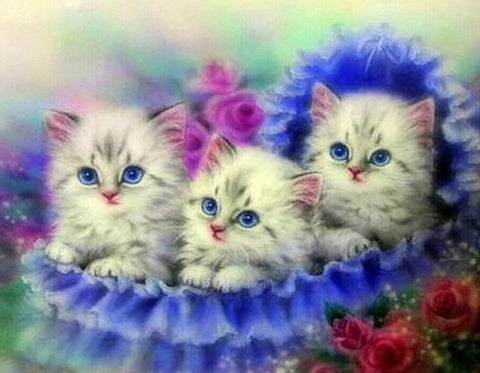 5D Diamond Painting Three Cat