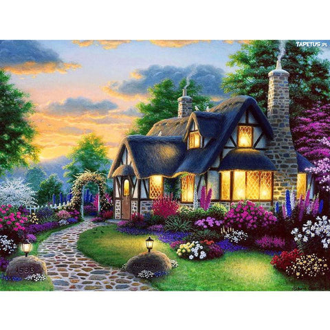 Image of 5D Diamond Painting Beautiful Transparent Cabin