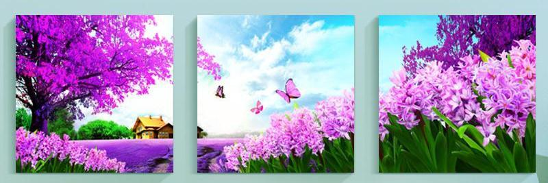 5D Diamond Painting Purple Lavender