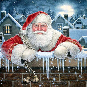 5D Diamond Painting Happy Santa