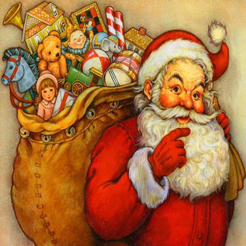 Image of 5D Diamond Painting Happy Santa