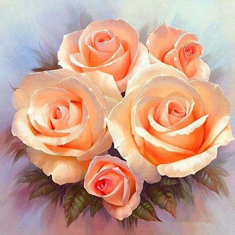 Image of 5D Diamond Painting Five Orange Flower