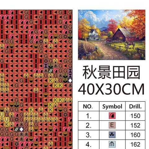5D Diamond Painting Autumn Farm