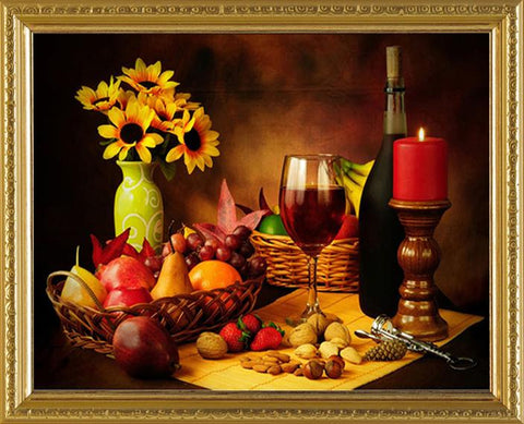 Image of 5D Diamond Painting Beautiful Candlelight Dinner
