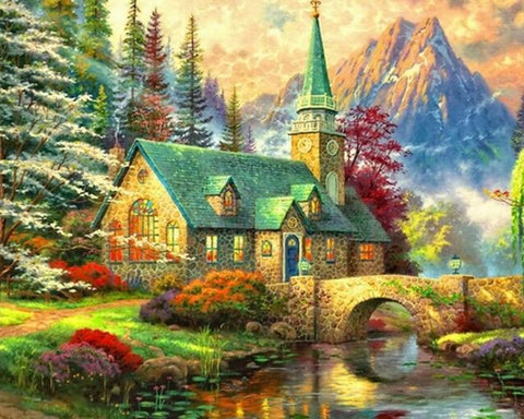 Image of 5D Diamond Painting European Hut