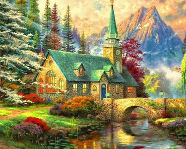 5D Diamond Painting European Hut