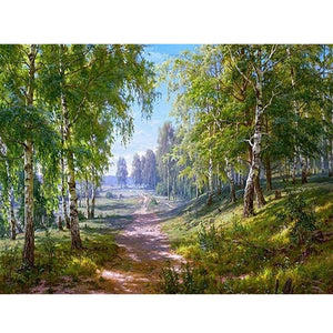 5D Diamond Painting Forest Woods