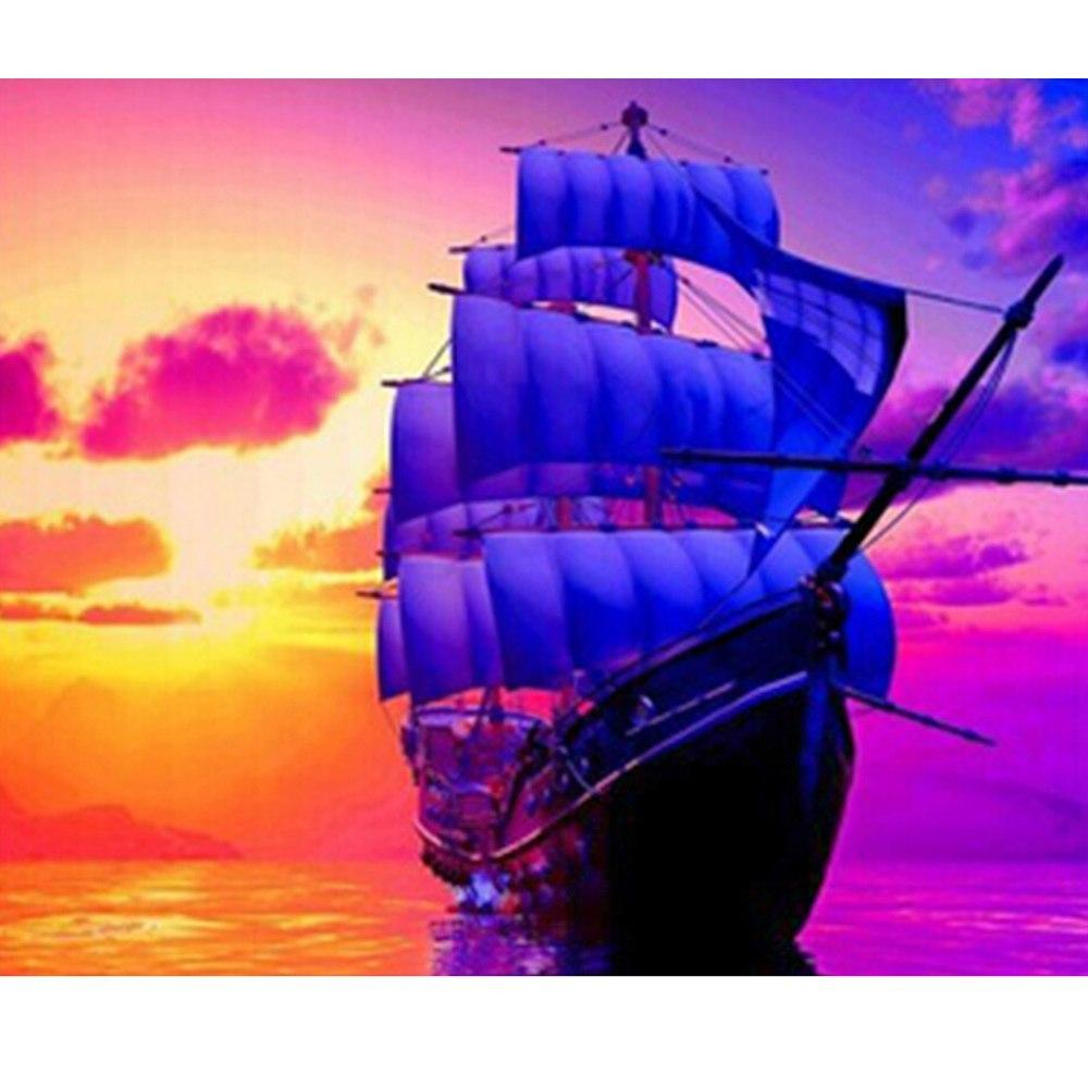 5D Diamond Painting Sunset Sails