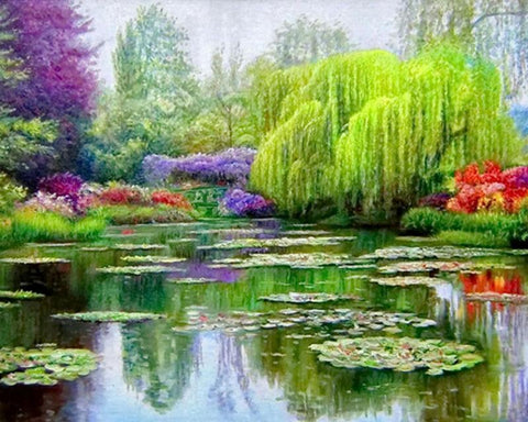 Image of 5D Diamond Painting Weeping Willow Tree