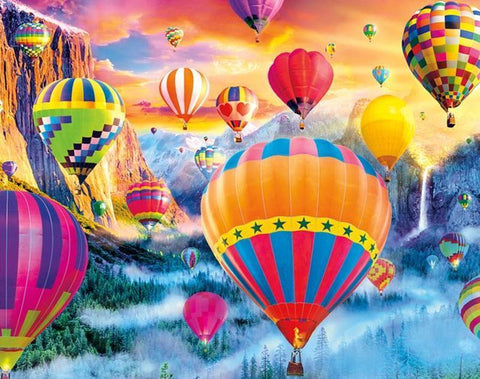 Image of 5D Diamond Painting Hot Air Balloon Ride