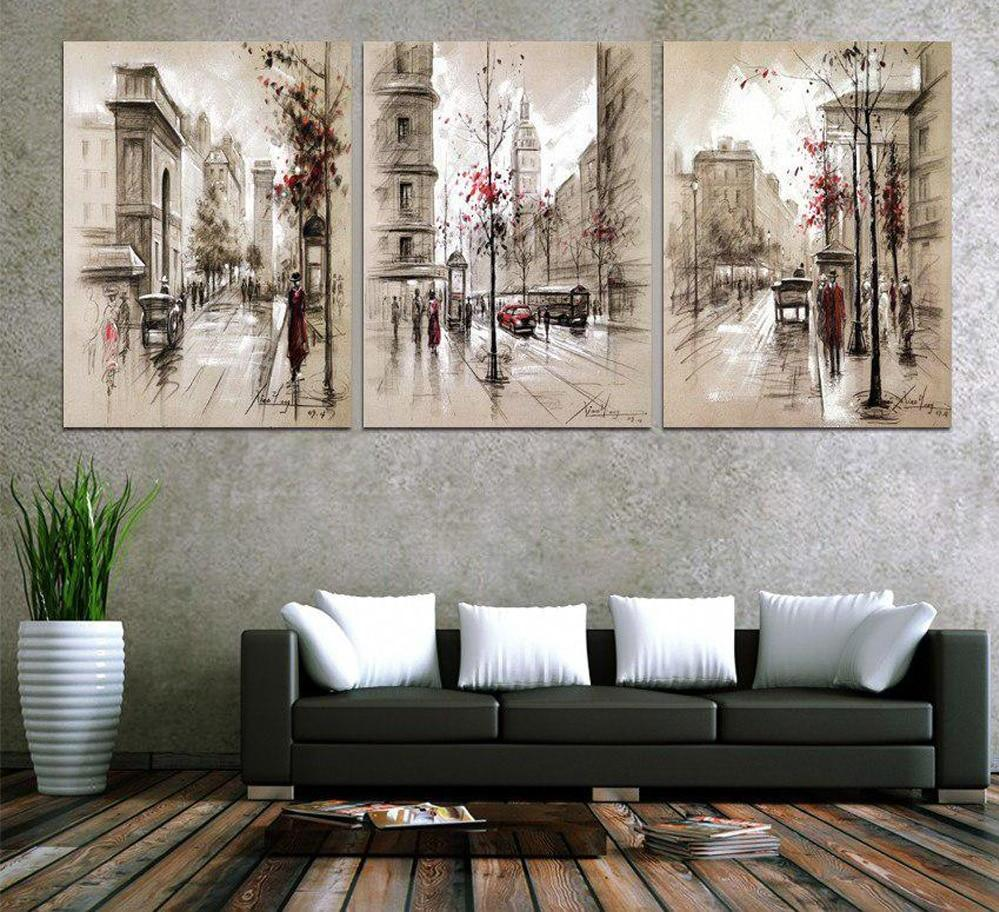 5D Diamond Painting Triple Street Scenery