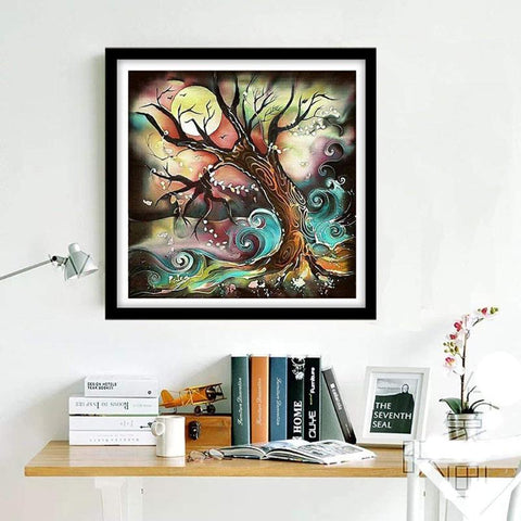 Image of 5D Diamond Painting Moon Tree