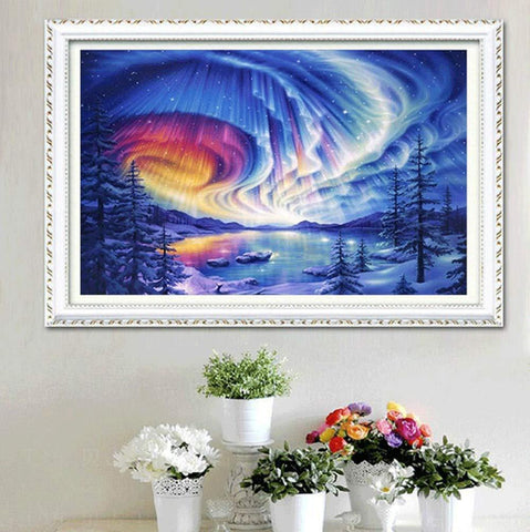 Image of 5D Diamond Painting Rainbow Lake
