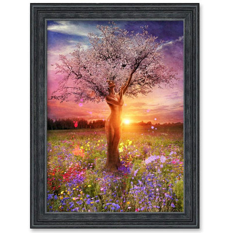 Image of 5D Diamond Painting  Woman in Tree as Nature
