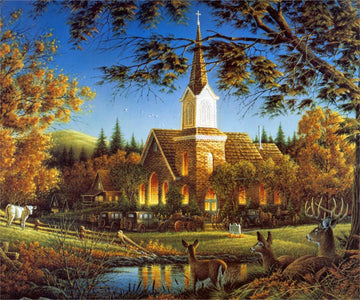 5D Diamond Painting Countryside Church
