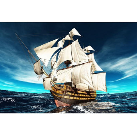 Image of 5D Diamond Painting Ocean Sailboat