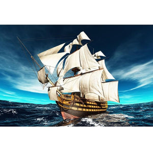 5D Diamond Painting Ocean Sailboat
