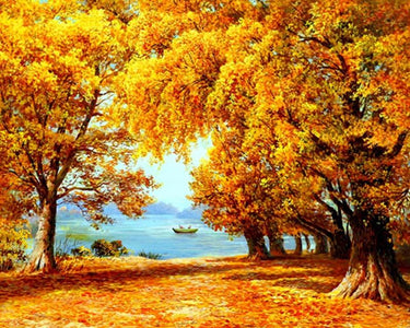 5D Diamond Painting Golden Autumn