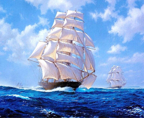 Image of 5D Diamond Painting Ship in the Ocean