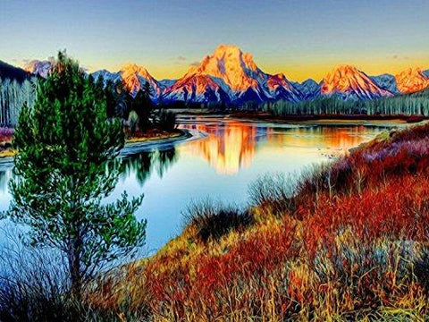 Image of 5D Diamond Painting Lake Landscapes